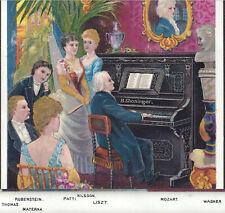 Franz Liszt Shoninger Piano Organ Factory View Rubinstein Patti Advertising Card