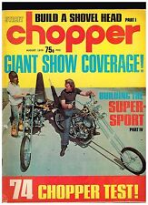 STREET CHOPPER AUGUST 1970 SEE CONTENT AEE 70's STYLE CUSTOM CHOPPERS TECH TIPS