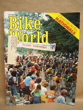 """Vtg Bike World Magazine October 1976 Vol 5, No 10 """"Close-Up on the Nationals"""""""