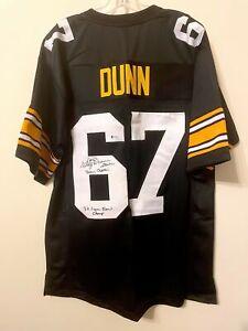 Gary Dunn Signed Pittsburgh Steelers Jersey Beckett BAS COA Miami Hurricanes