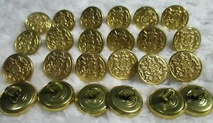 "24 NEW HONOR Buttons HORSES 5/8"" SHINY Metal  Brass KIDS DOLLS JACKET COAT VEST"