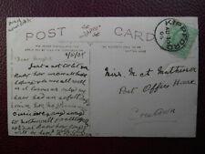 1905 KIPPFORD Kircudbrightshire Postmark - Miss M Matherson Post Office Creetown