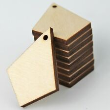 ALL SIZE (12pc to 100pc) Unfinished Wood Cutout Diamond Teardrop Earrings Blanks