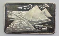 Mount Everest Mint ,The Pyramids of Egypt .999 Fine Silver Artbar, MEM-49,1973