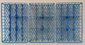 3 Vintage 1:64 HOT WHEELS / MATCHBOX Blue Plastic Car Insert Trays for Case