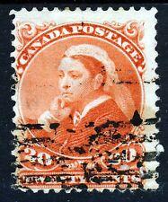 Canada Regina Vittoria 1893 20c. vermiglio SG 115 VFU