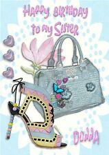 Personalised birthday card Shoes handbag mum sister daughter grandaughter b