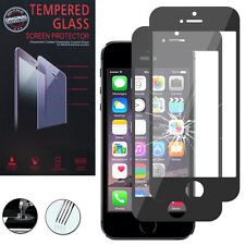 2 Films Verre Trempe Protecteur Protection NOIR pour Apple iPhone 5/ 5S/ 5se