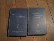 EDITIONS MAZDEENNES/ Dr HANISH/G et C BUNGE: la sagesse mazdéenne 2 volumes