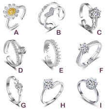 Ladies Womens 925 Sterling Silver Rings Adjustable Thumb Wedding Engagement Gift