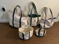 Lot of 5 LL Bean Boat And Tote Canvas Bag Shopper