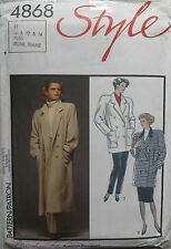 Style Adult Coat/Jacket Sewing Patterns