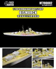 Hunter 1/700 HT700002 German Battleship Bismarck for Trumpeter Top quality