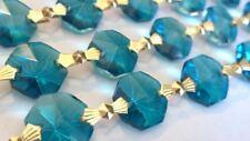 1 Yard Zircon Blue Chandelier Crystal Prism Wedding Garland