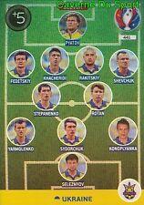 441 TEAM ELEVEN UKRAINE: CARD ADRENALYN EURO 2016 PANINI