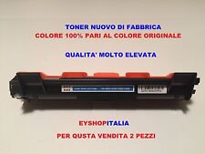 2 TONER PER STAMPANTE BROTHER HL1112A COMPATIBILE TN1050 COLORE NERO