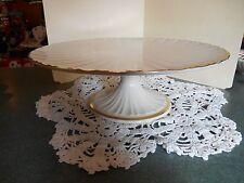 Lenox 24kt Ivory Pedestal Cake Plate