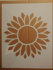 "Sun Flower Sunflower 8.5"" x 11"" Custom Stencil FAST FREE SHIPPING"