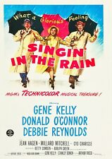 """Reproduction """"Singing In The Rain"""", Movie Poster, Home Wall Art, Size: A2"""