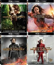 THE HUNGER GAMES: all 4 MOVIES   (4K ULTRA HD) - Blu Ray -  Region free