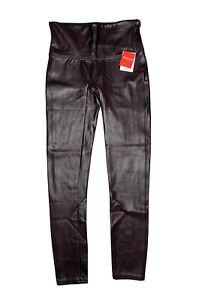 SPANX Faux Leather Leggings sz L Large Plum Purple NWT! Best Selling