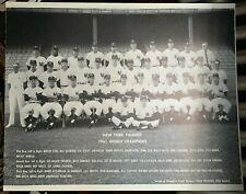1961 New York Yankees BIG Team Photo World Champions Foamcore Mantle Berra Ford