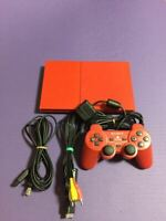 Playstation 2 SCPH-90000 CR PS2 Cinnabar Red Console Japan Tested F/S