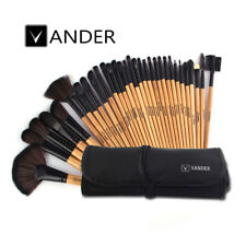 Vander 32pcs Professional Soft Cosmetic Eyebrow Shadow Makeup Brush Set Wood