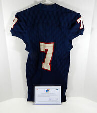 Kansas Jayhawks #7 Game Issued Navy Jersey DP01076