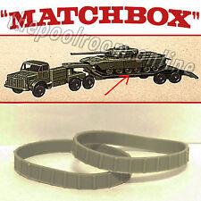MATCHBOX TRACKS - FOR MAJOR PACK NO.3 - CENTURION TANK - 2 PAIR (4 TRACKS)