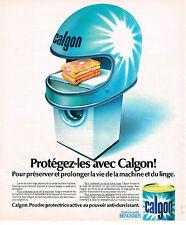 PUBLICITE ADVERTISING 084  1976  CALGONIT  prtège votre lave linge