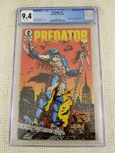 PREDATOR #1  CGC 9.4 1ST PREDATOR IN COMICS 1st Print! DARK HORSE Marvel!