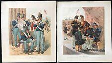 OGDEN H.A. DEUX LITHOGRAPHIES MILITAIRES AMÉRICAINES EN COULEUR XIXÈME  XXI-XVII