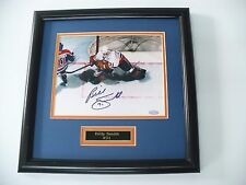 Framed AUTHENTIC Autographed Billy Smith Islanders Photo W/ Name Plate RARE