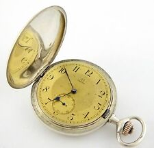 Antique Full Hunter Omega Pocket Watch Grand Prix Paris 1900  LAYBY AVA