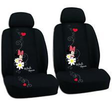 Auto Sitzbezug Set Minnie Mouse schwarz Sitzbezüge Schonbezüge vorne universal
