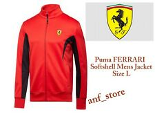 NWT Puma Ferrari SOFTSHELL Track SF Rosso Corsa Mens Sweat Hooded Jacket L LARGE