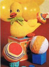 Baby Duck kniiting Pattern per Pasqua. GIOCATTOLO,
