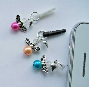 Anti-Dust Plug Glass Pearl Angel/Fairy Charm for Mobiles/iPads/DS etc
