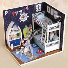 1x DIY Mini House Handmade Wooden Creative Room Model With Furniture Kids Toy US