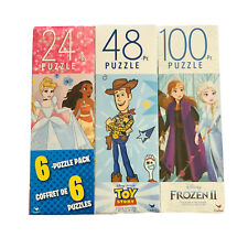 Disney Puzzle Pack 6 Puzzles Toy Story , Princess  Frozen 2 Mickey Jigsaw Puzzle