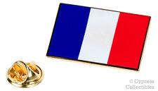 FRANCE FLAG ENAMEL LAPEL PIN PARIS FRANCE TRICOLOUR TIE TACK BADGE Drapeau NEW