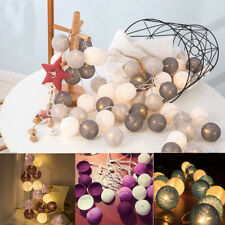 3M 20 LED Colorful Cotton Ball LED String Christmas Wedding Party Fairy Light AU