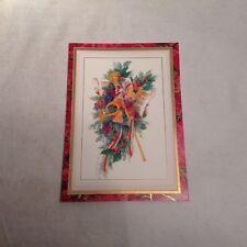 Licia Albanese Autograph Christmas Card Metropolitan Opera Soprano Star Diva 2/3