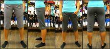 Lululemon sz 10 Sing Floss Travel Crop VGUC Gray Cotton Yoga Fitness casual