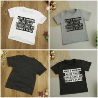 Toddler Baby Kids Boys Letter Printed Blouse Tops T-Shirt Kids Clothes Outfit