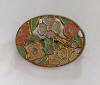 Art Deco enamel brooch