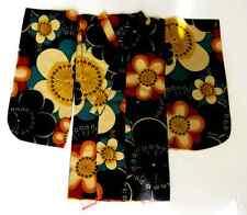 Japanese Handsewn Cotton Doll Kimono -  Round FLowers