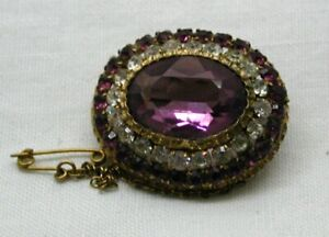 Victorian Lovely Gold Pinchbeck And Stone Set Brooch