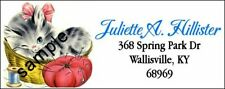 Vintage Kitty Cat Amp Sewing Basket Design 3 Return Address Labels Multi Option